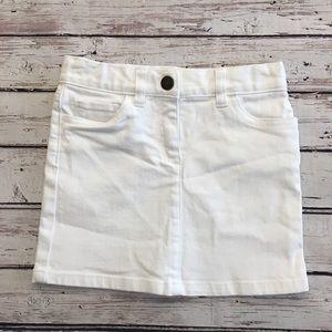 Crewcuts White Denim Skirt
